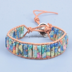 Mixed Impression Jasper Cuboid Bracelet | Customized Style
